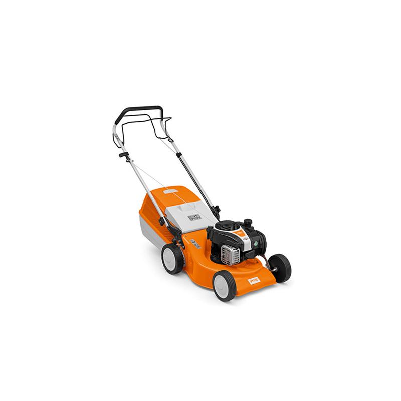 stihl rm 248 t jól irányítható benzinmotoros fűnyíró gép 46 cm-es munkaszélességgel, fix sebességű kerékhajtással