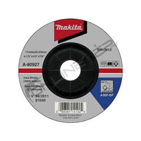 csiszolótárcsa acél 115x6mm (makita a-80927)