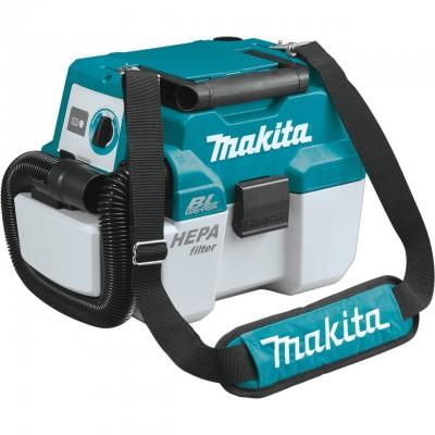makita dvc750lz akkus száraz nedves porszívó 18v (lxt) (bl motor) akku és töltő nélkül
