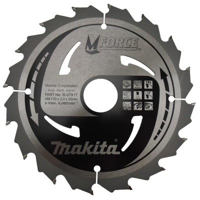 körfűrészlap mforce 180/30mm z16 (makita b-07939)