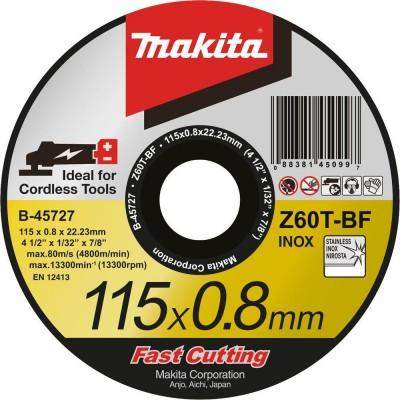 vágókorong inox 115x0,8 mm (makita b-45727)