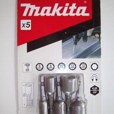 5db-os dugókulcs készlet sw 6,8,10,12,13 (makita b-39154)