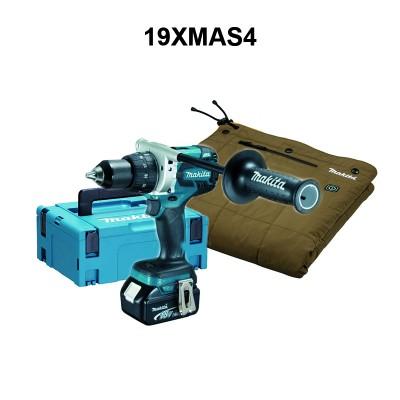 makita ddf481rtj akkus fúró-csavarbehajtó, dcb200b akkus fűthető takaró (lxt) 18v/2x5.0ah, akkukkal, töltővel, 19xmas4