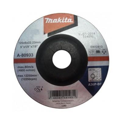 csiszolótárcsa inox 125x6mm (makita a-80933)