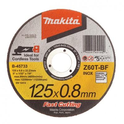 vágókorong inox 125x0,8 mm (makita b-45733)