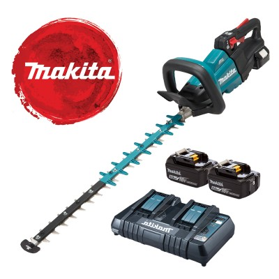 makita duh601pte akkus sövényvágó 60cm (lxt) (bl motor) 18v/2x5.0ah akkukkal, dupla soros töltővel