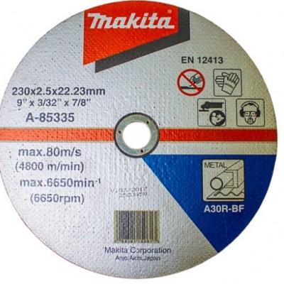 vágókorong acél 230x2,5mm (makita a-85335)