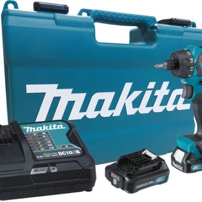 makita df032dsae fúró-csavarbehajtó (cxt) (bl motor) 12v/2x2.0ah akkukkal, töltővel, kofferrel