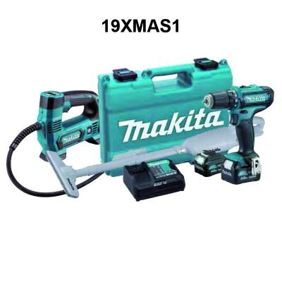 makita df331dsme akkus fúró-csavarbehajtó, mp100dz akkus pumpa, cl106fdzw akkus porszívó szett (cxt) 12v/2x4.0ah, akkukkal, töltővel, 19xmas1