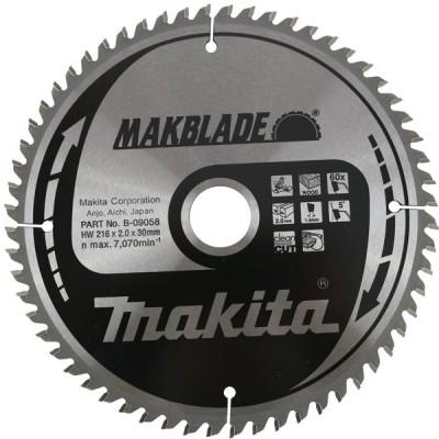 körfűrészlap makblade fához 260/30mm z60 (makita b-09020)