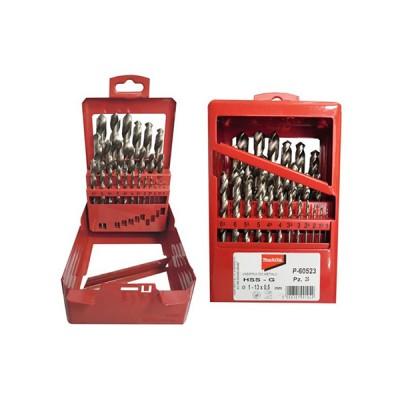hss-g fémfúrókészlet 25db 1-13mm (makita p-60523)