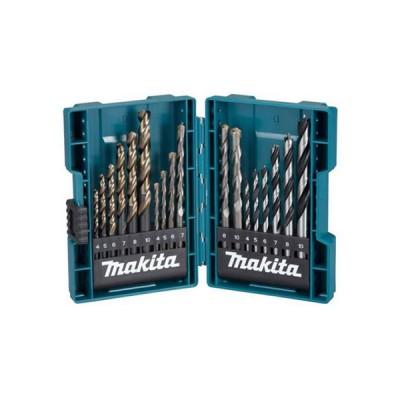 18db-os fúrókészlet fa, fém, kőzet 4,5,6,7,8,10 (makita b-49432)