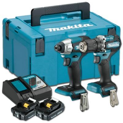 makita dlx2423aj akkus gépszett 18v (lxt) (szénkfementes motor) (ddf487z+dtd157z)