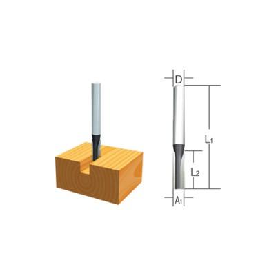 nútmaró kés, befogó: 8 átmérő: 6 munkahossz: 19 (makita d-47400)