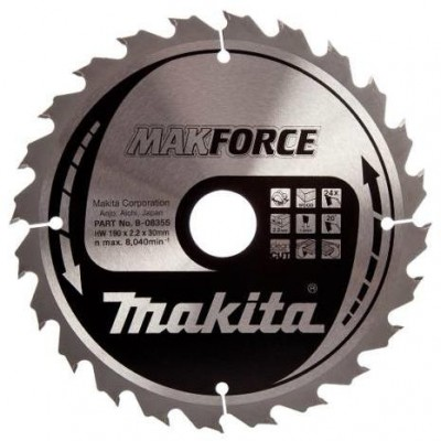körfűrészlap makforce 190/30mm z12 (makita b-08224)