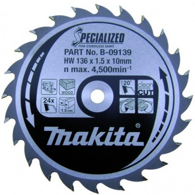 körfűrészlap specialized akkus 136/10mm z24 (makita b-09139)