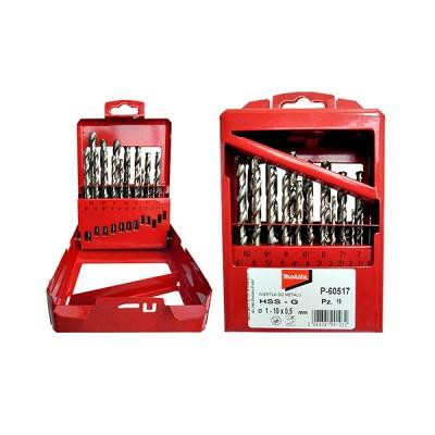 hss-g fémfúrókészlet 19db 1-10mm (makita p-60517)