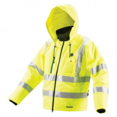 makita dcj206zs 18v lxt li-ion fűthető kabát neon z, méret: s