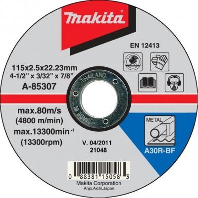 vágókorong acél 115x2,5mm (makita a-85307)