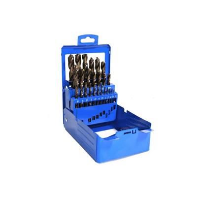 hss co 5 fémfúrókészlet 19db 1-10mm (makita p-61818)