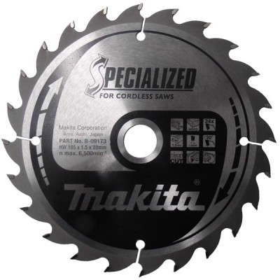 körfűrészlap specialized akkus 165/20mm z24 (makita b-09173)