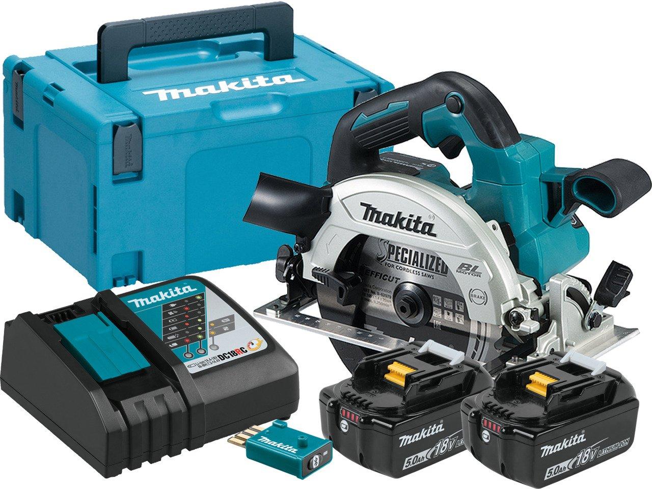 makita dhs661rtju akkus körfűrész 165mm (lxt) (bl motor) (adt) (aws) 18v/2x5.0ah makpack kofferrel